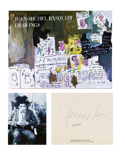 "Jean-Michel Basquiat, '""DRAWINGS,"" 1985, SIGNED Edition Bruno Bischofberger and Boone, SIGNED & Numbered 271/1000, RARE', 1985"