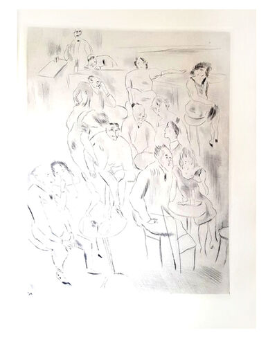 "Jules Pascin, 'Original Etching ""Au Bal"" by Jules Pascin', 1927"