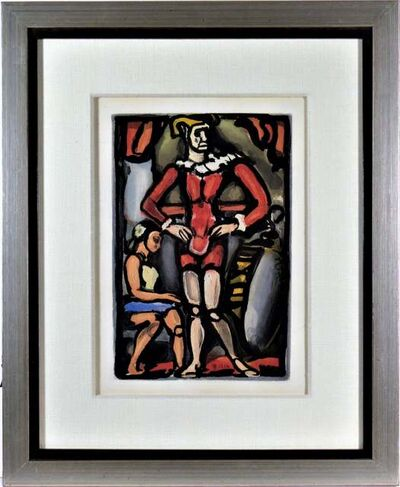 "Georges Rouault, '""Master Arthur"" from the suite ""Cirque de l'Etoile Filante"" Original aquatint.', 1934"