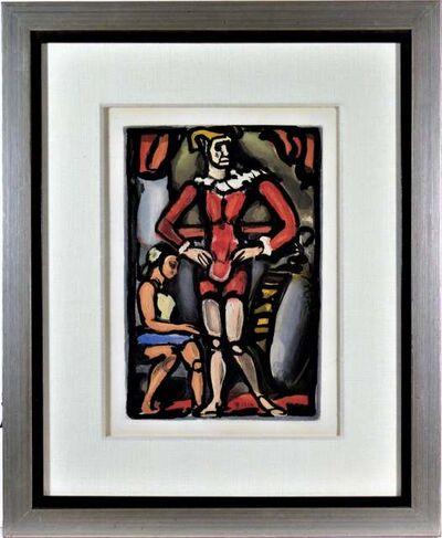 """Georges Rouault, '""""Master Arthur"""" from the suite """"Cirque de l'Etoile Filante"""" Original aquatint.', 1934"""