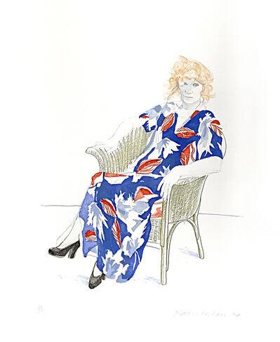 David Hockney, 'Celia in a wicker chair ', 1974