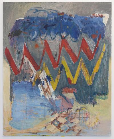 Carole Vanderlinden, 'Zigzag rouge et jaune', 2019