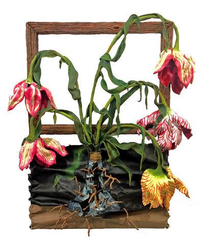 Valerie Hegarty, '5 Tulips with Wan Li Vase Elegy', 2019