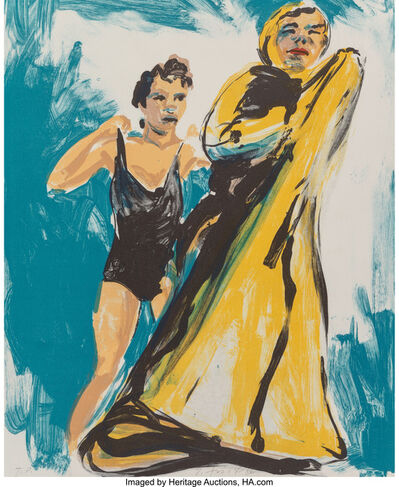 Eric Fischl, 'Annie, Gwen, Lily, Pam and Tulip (woman in black, woman in robe)', 1986