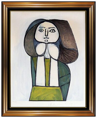 Pablo Picasso, 'Pablo Picasso Portrait de Femme Color Lithograph Signed Cubism Framed Artwork', 20th Century