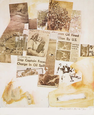 Robert Rauschenberg, 'Untitled (Ship Captain Faces Charge in Oil Spill) from the Peace Portfolio I', 1970