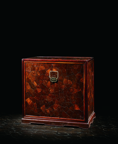 Unknown Chinese, 'A Huanghauli and Coco De Mer Shell-inlaid Seal Chest 清康熙 黃花梨鑲海椰殼印箱', China: Kangxi (1662-1722)
