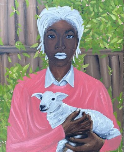 Kenechukwu Victor, 'Lady with sheep', 2021