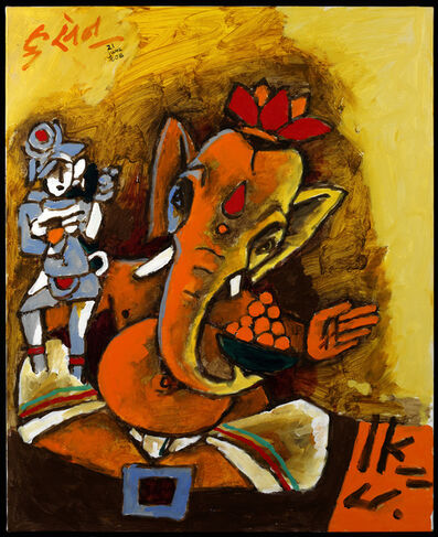 M. F. Husain, 'Ganesha', 2008