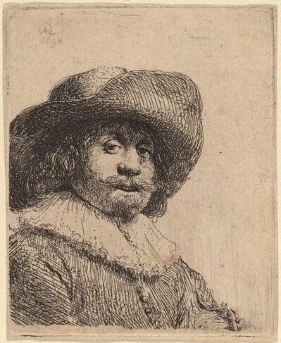 Rembrandt van Rijn, 'Man in a Broad-Brimmed Hat', possibly 1638