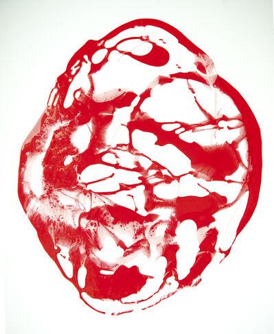 Stefanie Brehm, 'Pol klein rot-weiß', 2015