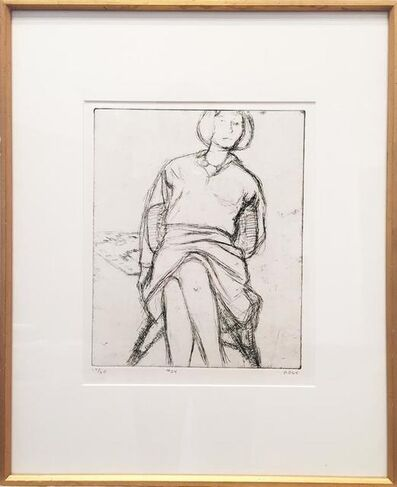 Richard Diebenkorn, '#24 (Phyllis seated in rattan chair) from 41 etchings Drypoints', 1965