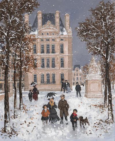 Fabienne Delacroix, 'Neige sur le Pavillon de Flore', 2019