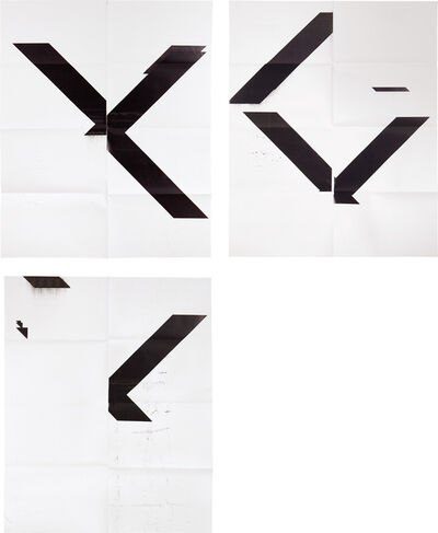 Wade Guyton, 'X Poster (Untitled, 2007, Epson UltraChrome inkjet on linen, WG1999); X Poster (Untitled, 2008, Epson UltraChrome inkjet on linen, WG2001); and X Poster (Untitled, 2007, Epson UltraChrome inkjet on linen, WG1208)', 2015-2017