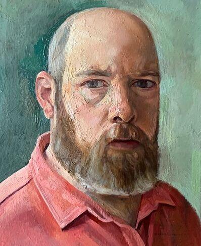 Jeremy Long, 'Self-Portrait in Red Shirt', 2020