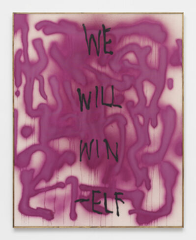 Brad Troemel, 'WE WILL WIN -ELF -- Oregon Graffiti from ELF archive w/ Subversive STREET ART organic cold pressed beet paint (Proceeds support ELF, Greenpeace, Planned Parenthood) Support ETHICAL treatment', 2014