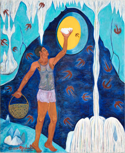 David Medalla, 'Taong kumukuha ng puhad ng balinsasayan (Man gathering the swift bird's nest)', 1986-1991