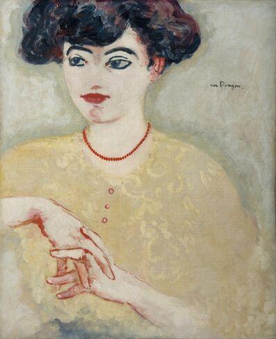 Kees van Dongen, 'Femme en buste les mains jointes, la Parisienne', 1906