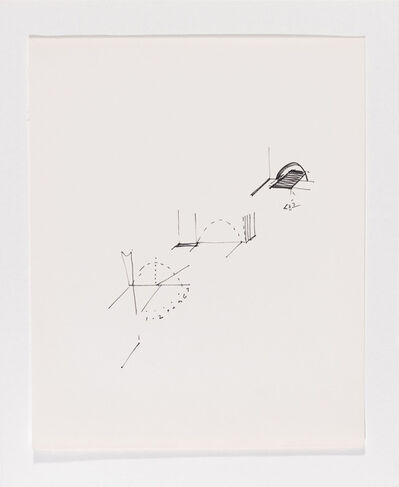 Gordon Matta-Clark, 'Untitled (schematic drawings, notebook, 24 sheets)', 1974
