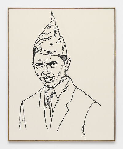 Brad Troemel, 'BARACK OBAMA -- from Direct Action Guide (Proceeds support ELF, Greenpeace, Planned Parenthood) Support ETHICAL treatment (NUDE SERIES)', 2014