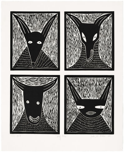 Judy Kensley McKie, 'Wolf Dogs', 1991