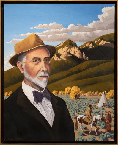 """Doug West, 'Joseph Henry Sharp's Taos (Loosely inspired by Joseph Henry Sharp painting titled """"Self Portrait"""" and a photograph from the Smithsonian American Art Museum)', 2021"""