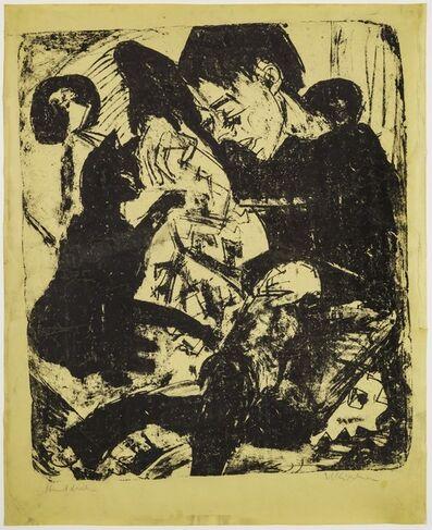 Ernst Ludwig Kirchner, 'Knabe mit Katze (Boy with Cat)', 1919