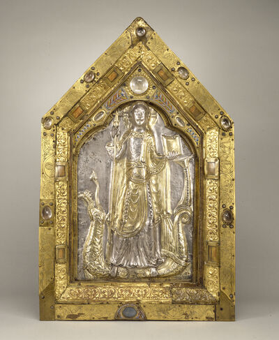 Mosan Workshop, 'Reliquary Panel of the Triumphant Christ ', Late 11th century
