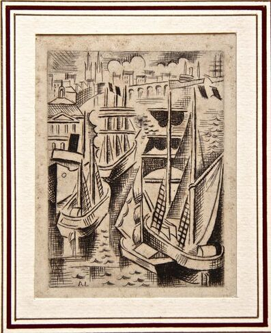 André Lhote, 'Le Port de Bordeaux (The Harbor of Bordeaux)', 1926