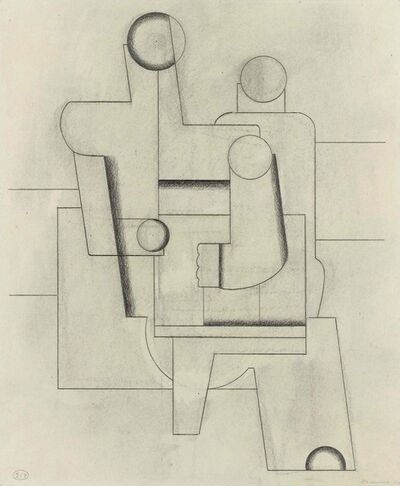 Willi Baumeister, 'Two sitting figures', 1928