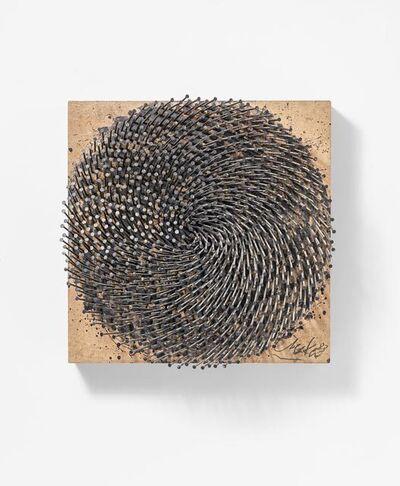 Günther Uecker, 'Dunkle Spirale', 1983