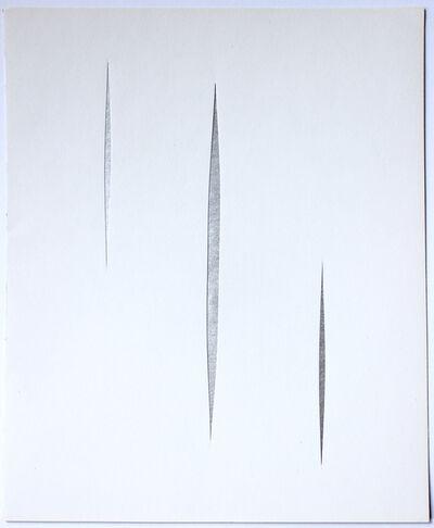 Lucio Fontana, 'Untitled (Silver Concetto Spaziale)', 1966