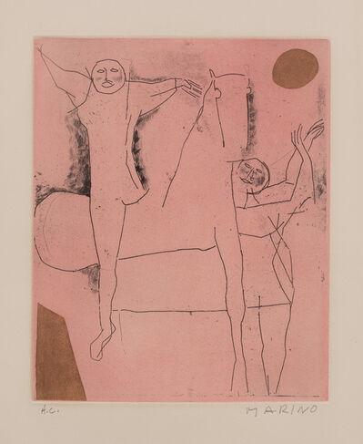 Marino Marini, 'Giocolieri (Jugglers), plate VIII from Tout près de Marino (Everything Near to Marini) (G. A138)', 1971