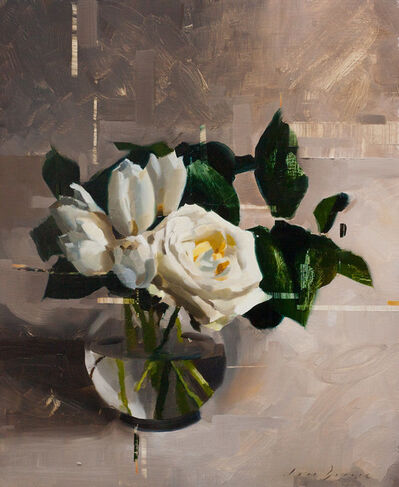 Jon Doran, 'Tulips and Lisianthus in Shade', 2018