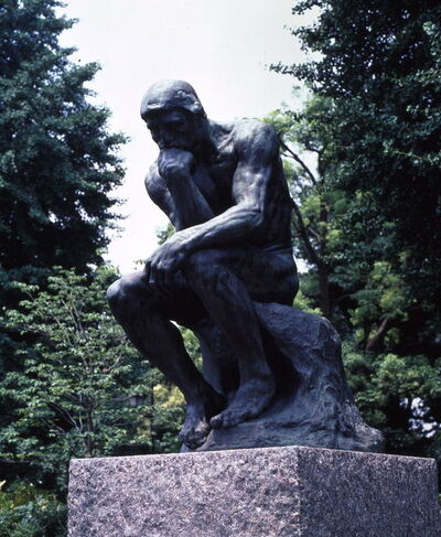 Auguste Rodin, 'The Thinker (Enlarged)', 1881, 82 (model), 1902, 03 (enlarged), 1926 (cast)