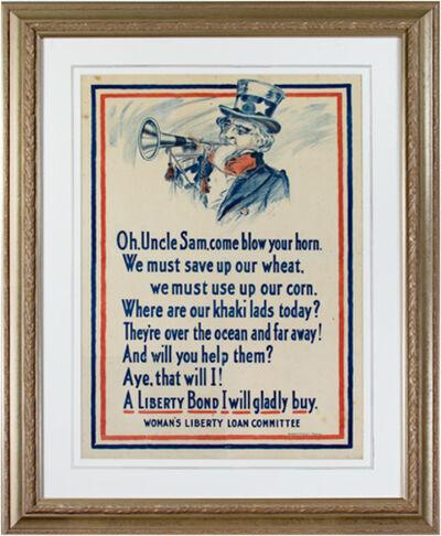 Unknown, 'World War I Poster - Uncle Sam', 1917