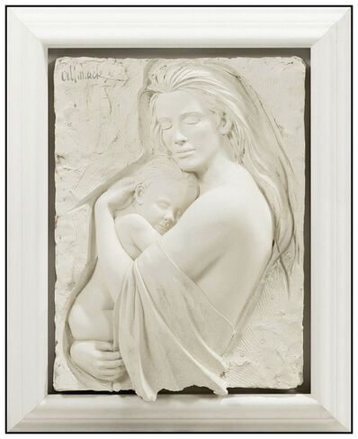 Bill Mack, 'Bill Mack Tendernesss Bonded Sand Large Figurative Relief Sculpture Mother Child', 1995
