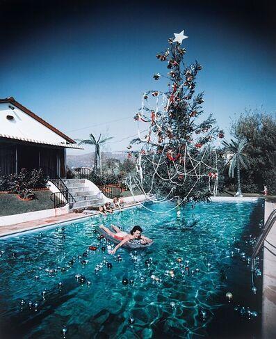 Slim Aarons, 'Christmas swim', 1954