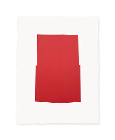 Jeff Kellar, 'white w/red 2', 2019