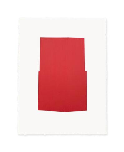 Jeff Kellar, 'white w/red 2', 2019