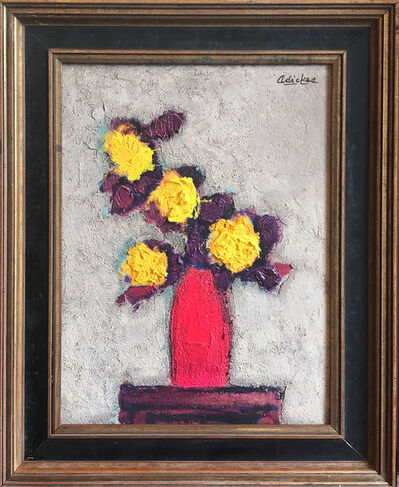 David Adickes, 'Yellow Flowers, Red Vase', 2018