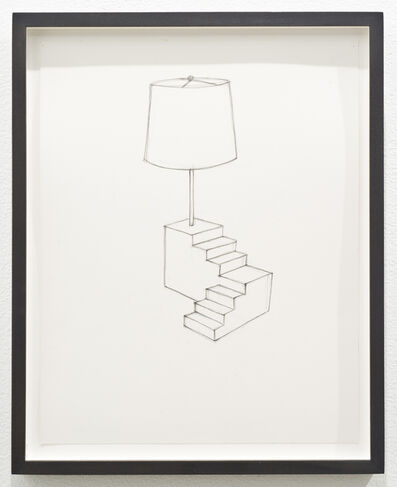 Roy McMakin, 'Untitled (lamp/stair)', 2013