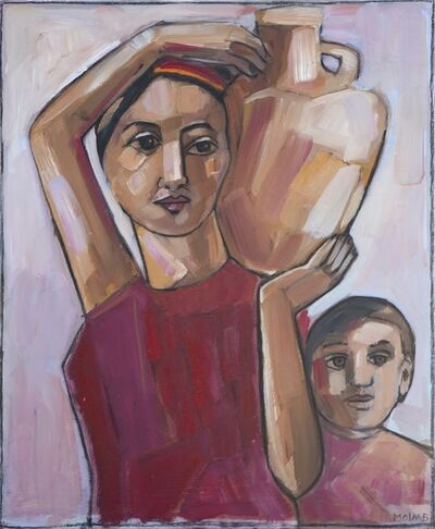 Jamil Molaeb, 'La bedouine et sa fille ', .