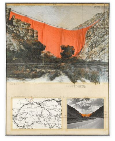 Christo, 'Valley Curtain (Project for Colorado) Rifle, Grand Hogback ', 1971