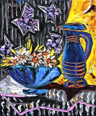 JD Miller, 'Basket with Flowers & Pitcher, after Picasso', ca. 2012