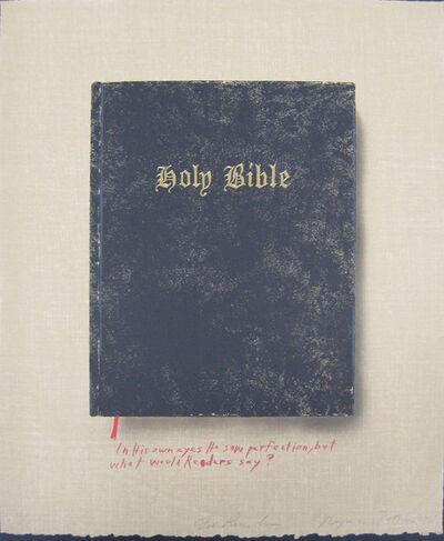 Ed Ruscha & Raymond Pettibon, 'Holy Bible (State II) (In his own eyes)', 2003