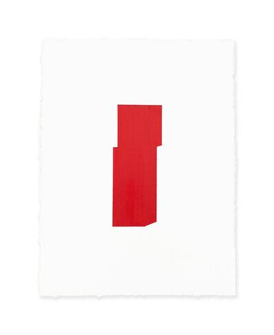 Jeff Kellar, 'white w/red', 2019