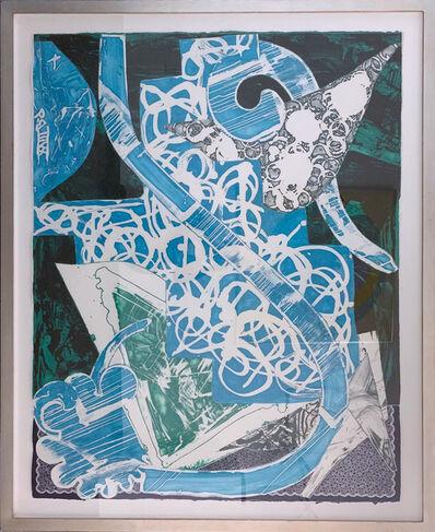 Frank Stella, 'Swan Engraving, Blue, Green, Gray', 1984