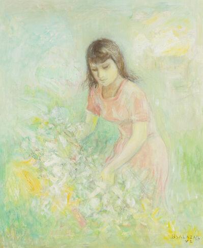 Braulio Salazar, 'Woman with flowers', 1982
