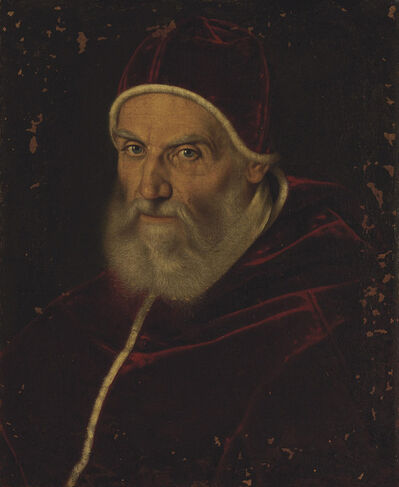 Scipione Pulzone, called Il Gaetano, 'Portrait of Pope Gregory XIII, bust-length'
